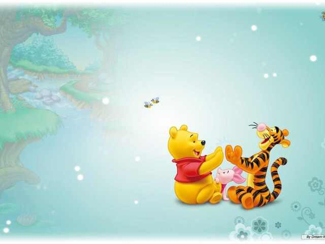 Pooh, Tigger And Piglet Wallpaper