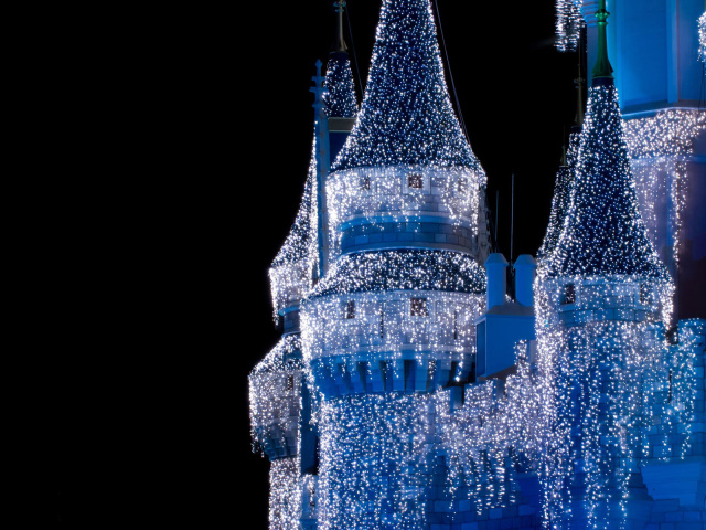 Christmas Castle Wallpaper