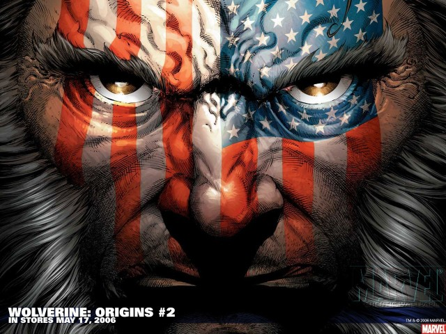 Wolverine With Us Flag Wallpaper