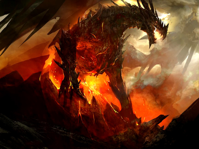 Volcanic Dragon Wallpaper