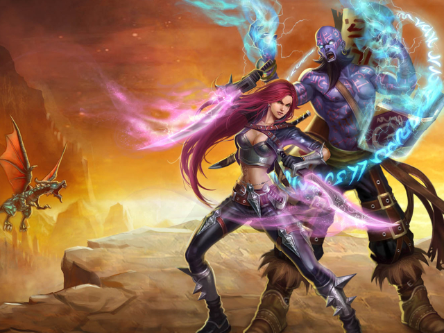 Katarina & Ryze Wallpaper