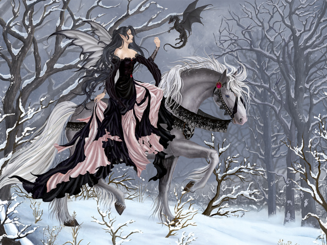 The Black Elf Princess Wallpaper