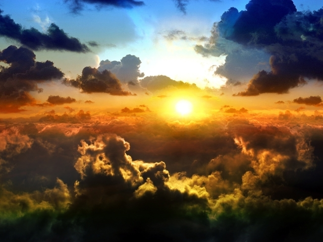 Clouds On Sunset Wallpaper