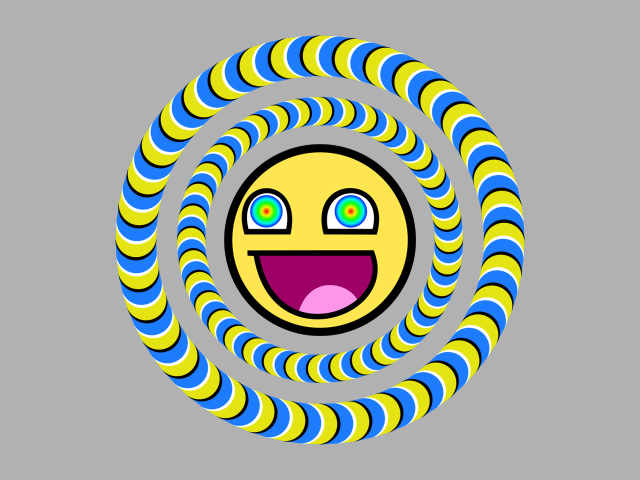 Hypnotic Smiley Wallpaper